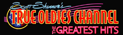 Scott Shannon's True Oldies Channel Logo 250px x 71px FOr Black Background