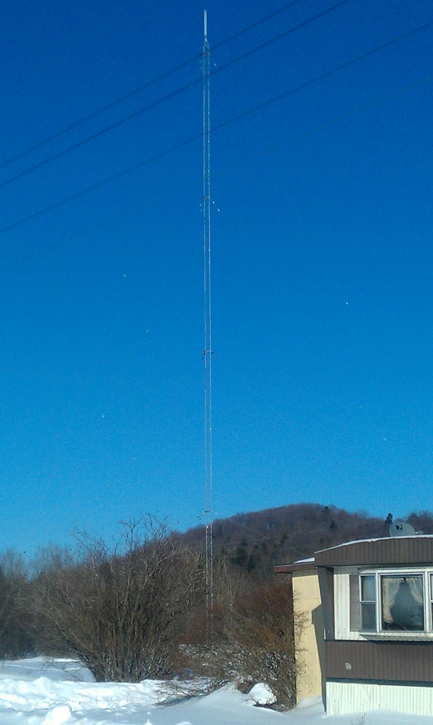 Munising, Michigan - Radio Tower Looks Great, March 2013