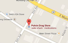 Locate Putvin Drug Store with Google Maps