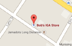 Find Bob's IGA Store on Google Maps