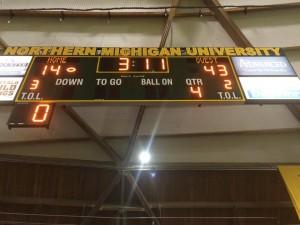 Mustangs 43 14 win