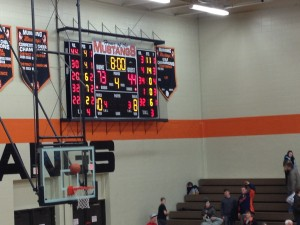 The final score between your Munising Mustang boys and the Mid Peninsula Wolverines!
