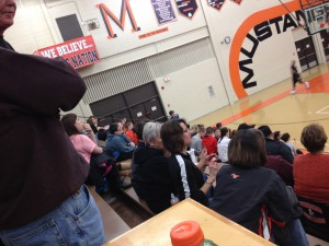The stands were filled as your Munising Mustang boys took on the Newberry Indians on Tuesday, March 3rd, 2015 on 1400am GTO Good Time Oldies and WQXO.com!