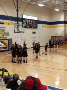 The Munising Mustang girls warm-up against the Crystal Falls-Forest Park Trojans on Thursday, March 12th, 2015 on 1400am GTO Good Time Oldies and WQXO.com!