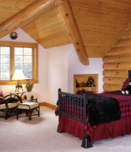 Make your bedroom cozy with help from the experts at Hiawatha Log Homes in Munising
