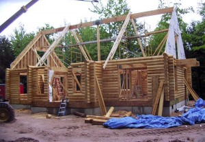 A new dream home in the works by Hiawatha Log Homes