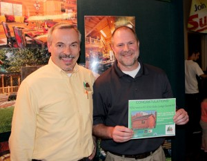 Brian MacFalda won the Oulu Lodge Sauna Giveaway from Hiawatha Log Homes and Great Lakes Radio