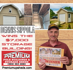 See Pictures from The $7,000 Storage Building of Your Dreams Giveaway