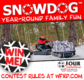 Register to win a Snowdog and Sled