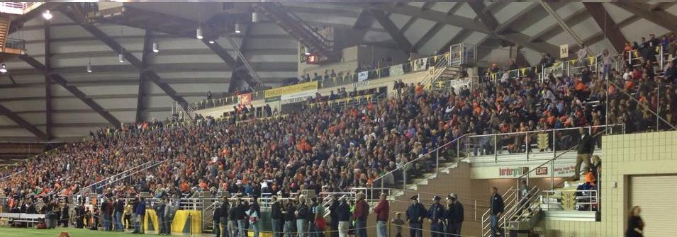 Mustang Fans Pack The Stands At The Superior Dome